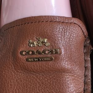 Coach Shoes - Coach Loafers Flats saddle Brown Leather 9 Opal